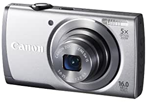 Canon PowerShot A3500 IS Digital Camera with Wi-Fi - Silver (16 MP, 28mm Wide Angle, 5x Optical Zoom) 3.0 inch LCD
