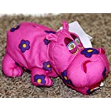 "Retired Disney Its A Small World 7"" Multi Colored Psychodelic Hippo Plush Bean Bag Doll Mint With Ta"