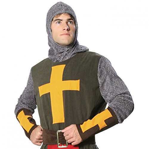 GSG Noble Crusader Costume Adult Halloween Fancy Dress (Noble Warrior Adult Costume)