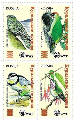 world-wildlife-fund-minifoglio-di-4-francobolli-che-caratterizzano-gli-uccelli-russia-mint-e-smontat