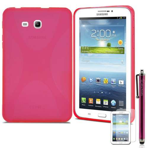 Best Deals! LK X Design Slim TPU Gel Rubber Soft Skin Case Cover for Samsung Galaxy Tab 3 Lite 7.0 T...