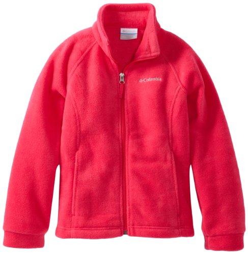 Columbia Big Girls' Benton Springs Fleece Jacket, Bright Rose, Large