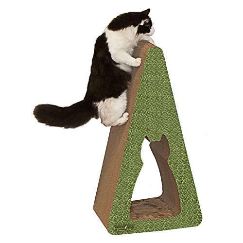 Picture Imperial Cat Giant Pyramid Scratch and Shape, Wood Grain