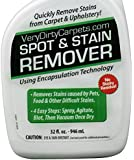 BIG 32 Oz. Carpet & Upholstery Cleaning Spot & Stain Remover Spray By VeryDirtyCarpets Free Stain Removal Guide. Best Concentrated Carpet Cleaner Product For Home Use Pet Stains & Very Dirty Carpets