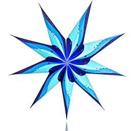 Happy Sales HSSL-NTSBLU North Star Paper Star Lantern Blue,