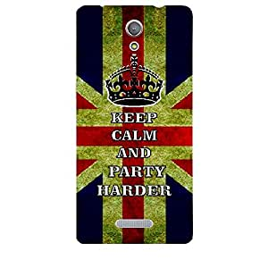 Skin4gadgets Keep Calm and PARTY HARDER - Colour - UK Flag Phone Skin for GIONEE M4