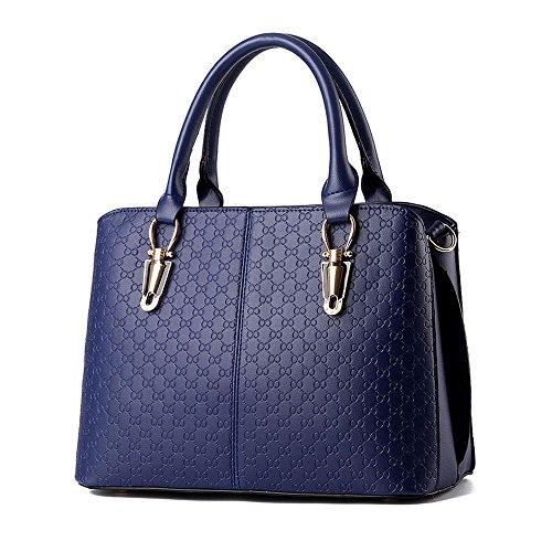 IMaySon(TM) Women's Simple Sling Tote Bags Top Handle Handbag(Navy)
