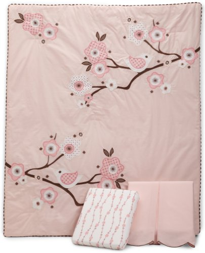 MiGi 3 Piece Crib Set, Blossom