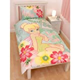 Girls Disney Fairies Tinkerbell Design Reversible Quilt/Duvet Cover Bedding Set