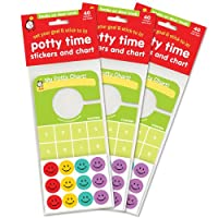 Potty Time Stickers and Chart, Hooks Onto Door Knob: Value 3 Pack from Tick Tock, LLC.
