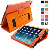 iPad Mini & Mini 2 Case, Snugg™ - Smart Cover with Flip Stand & Lifetime Guarantee (Orange Leather) for Apple iPad Mini & Mini 2 with Retina