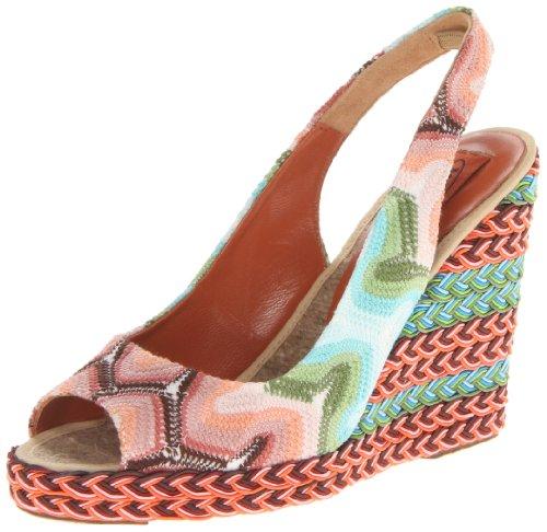 Missoni Womens MISSONI Espadrilles Sandale Stoff, Mehrfarbig C, GröÃe 36 Slingback multi-coloured Mehrfarbig (Mehrfarbig C) Size: 39
