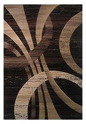LA Rug Princess Modern Abstract Brown Tones Area Rug (2 Foot by 3 Foot 3 Inch) PR-182
