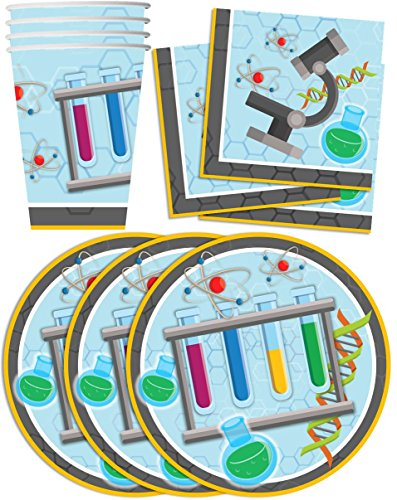 Super-Science-Birthday-Party-Supplies-Set-Plates-Napkins-Cups-Tableware-Kit-for-16
