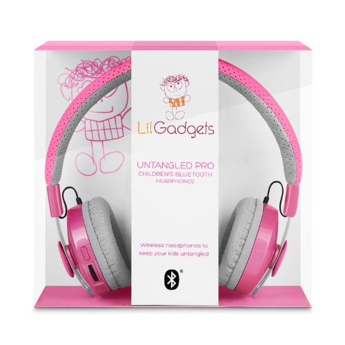 Lilgadgets Untangled Pro Children'S Wireless Bluetooth Headphones Pink