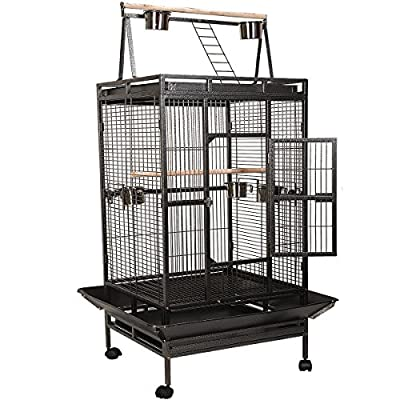 FDS Large Parrot Cage Bird Aviary Wire Breeding Floor Standing Coop
