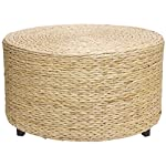 Oriental Furniture Rush Grass Coffee Table/Ottoman - Natural