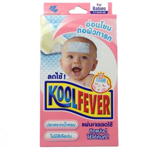 Kobayashi Kool Fever Gel Sheet Cooling Patch For Babies 0-2 Years (1Box) front-1024450