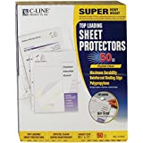 C-Line Top Loading Super Heavyweight Poly Sheet Protectors, Clear, 11 x 8.5 Inches, 50 per Box (61003)
