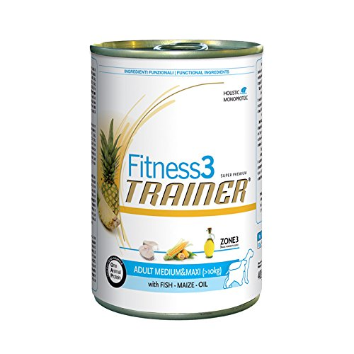 Trainer Fitness Adult Medium/Maxi Pesce e Mais 6x400 g - Multipack