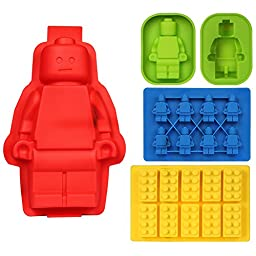 Freshlove Silicone Mold Silicone Cake or Jelly Mold & Ice Cube Tray or Candy,jelly &Chocolates Silicone Mold for Lego Lovers