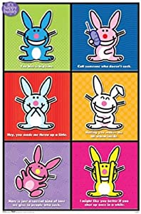 Amazon.com - Happy Bunnies Poster Print (24 x 36) - Prints