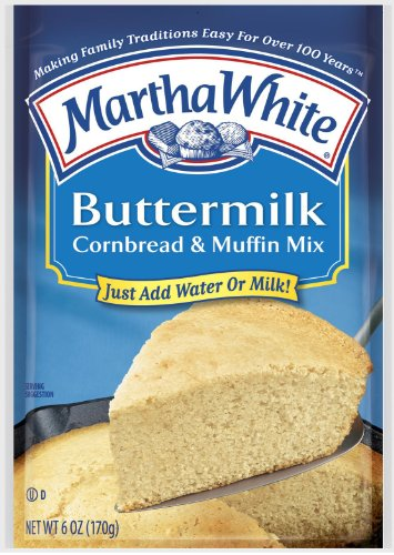 Martha White Buttermilk Cornbread Mix, 6 Oz, 12 Pk