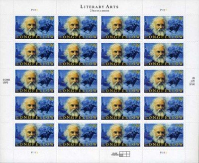 Longfellow 20 x 39 cent US Postage stamps # 4124