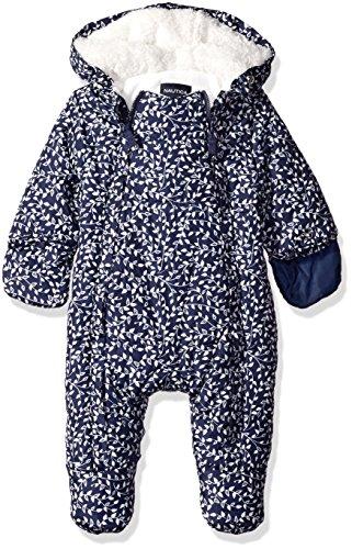Nautica Baby Printed Snowsuit, Navy, 3-6 Months