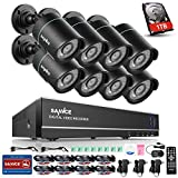 SANNCE 8CH AHD 1080N DVR Security Camera System with 1TB Hard Drive and (8)...