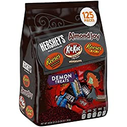 HERSHEY'S Halloween Demon Treats Snack Size Assortment (48.05-Ounce Bag, 125 Pieces)