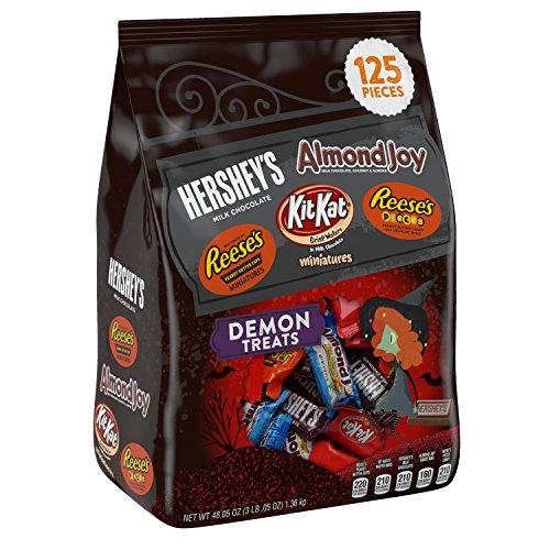 HERSHEY'S Halloween Demon Treats Snack Size Assortment (48.05-Ounce Bag, 125 Pieces)