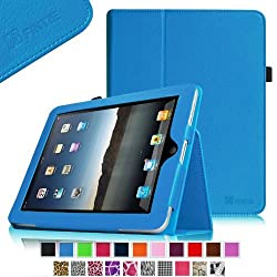 Fintie iPad 1 Folio Case - Slim Fit Vegan Leather Stand Cover with Stylus Holder for Apple iPad 1 1st Generation - Blue