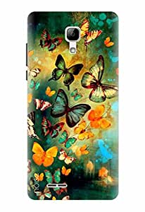 Noise Designer Printed Case / Cover for Micromax Bolt Selfie Q424 / Nature / Butterflies Design