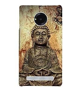 Gautam Buddha 3D Hard Polycarbonate Designer Back Case Cover for YU Yureka Plus