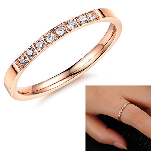 Alimab Fashion Full Crystal Ring 18k rose gold plated wedding ring Made with Genuine Austrian Crystals Full for woman