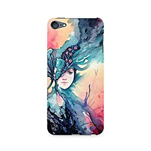 MOBICTURE Girl Abstract Premium Designer Mobile Back Case Cover For Apple iPod Touch 5