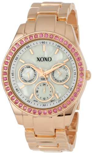 Buy best watches reviews xoxo women 39 s xo5298a rhinestone accent rose gold bracelet watchbest for Watches xoxo