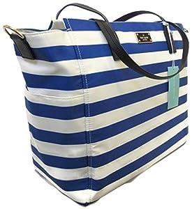 Kate Spade Taden Baby Bag Diaper Bag - Blake Avenue - WKRU3524 (Blue and White Stripes) ... from Kate Spade New York
