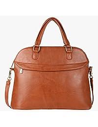 Pink Rose - Elegant Collection Brown Princess Charm Handbag - B01EHXMFQM