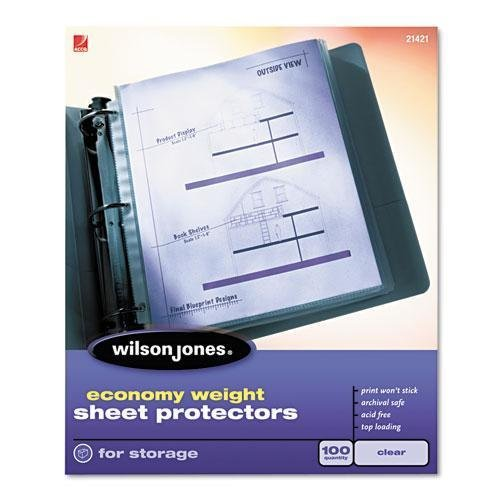 WLJ21422 - Wilson Jones Economy Weight Top-Loading Sheet Protectors by Wilson Jones