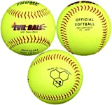 Trump® MP-EVIL-Y Evil Sports 12 Inch Yellow Leather Cover Softball with Micro Cell Technology (Sold in Dozens)