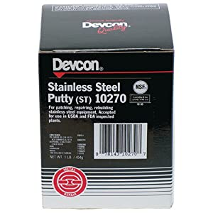 DEVCON Stainless Steel Putty (ST) - MODEL : 10270 Container Size: 1 lbs