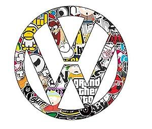 VW Volkswagen Stickerbomb Sticker Decal Aufkleber 10cm Digital Print