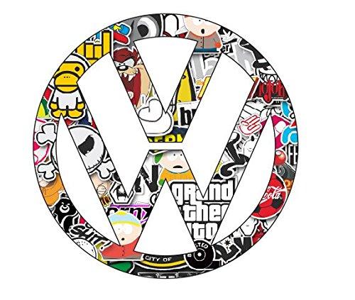 2-x-Volkswagen-stickerbomb-decal-sticker-env-10-cm-logo-feu-ken-block-voiture-tuning-style-moto