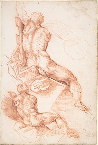 Two Studies of a Seated Male Nude Seen from the Back Poster Print by attributed to Cherubino Alberti (18 x 24) playa nevada толстовка