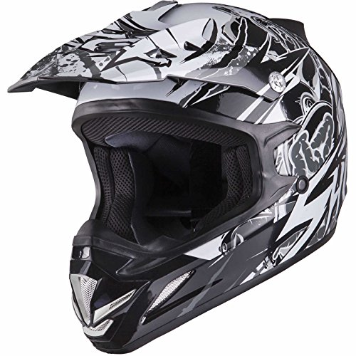 Shox MX-1 Scream Motocross Helmet L Black/Grey