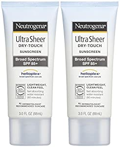 Neutrogena Ultra Sheer Dry-Touch Sunscreen SPF 85, 3 Ounce (Pack of 2)