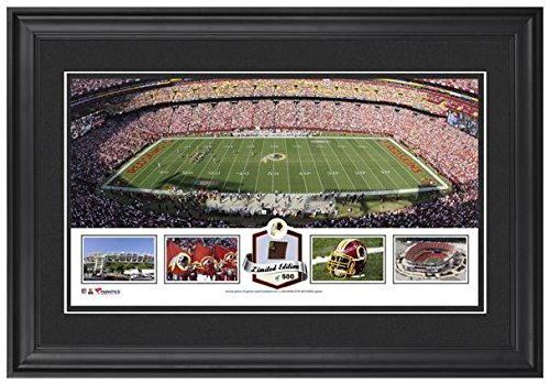 fedex-field-washington-redskins-framed-panoramic-collage-with-game-used-football-limited-edition-of-