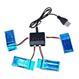 Kingtoys 4 PCS Rc Quadcopter 3.7v 850mah Li-po Battery with 4 in 1 X4 Battery Charger for Syma X5 X5c Rc Spare Parts